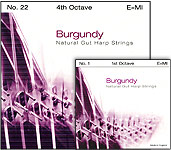 Burgundy Natural strings